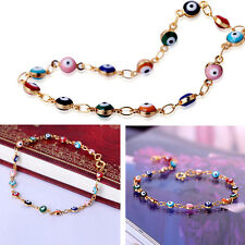 Fashion Charm Women Gold Plated Evil Eye Hand Bracelet Gift Colorful New