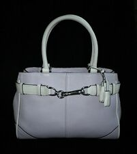 COACH HAMPTONS MED LILAC PURPLE LEATHER CARRYALL TOTE BAG PURSE SATCHEL NICE!