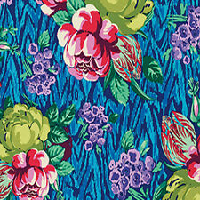 Amy Butler Hapi Collection Tapestry Rose Fabric in Sapphire PWAB117 100% Cotton