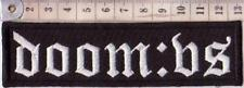 DOOM:VS EMBROIDER PATCH DOOM FUNERAL METAL SKEPTICISM UARAL Metal Negro
