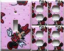 Minnie Mouse Disney Light Switch Plate Cover Girls Bedroom Bath Decor Set 1&4