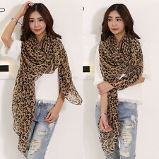 Women's Fashion Long Style Wrap Lady Shawl Leopard Chiffon Scarf Scarves Stole