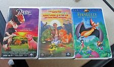 Lot of 3 Children Favorites VHS movies - Fern Gully, Land Before Time II, BABE