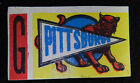1961 TOPPS PITTSBURGH PANTHERS  FLOCKED STICKER INSERT