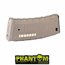 Caricatore monofilare per m4 Phantom 70rd P-Mag tan in polimero per Softair