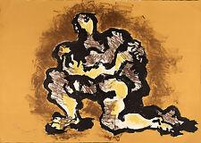 """Jaques LIPCHITZ """"L'ultimo abbraccio"""" 1971 litografia originale firmata"""