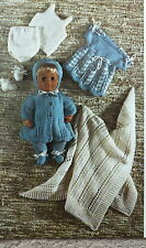 Vintage Knitting Pattern Baby Doll Bonnet Coat Dress Shawl/Blanket DK/4Ply E6694