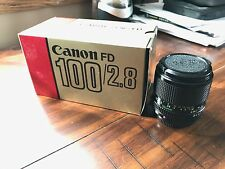 CANON new FD 100mm f2.8 in excellent condition