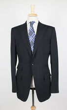 NWT TOM FORD Black Wool Peak Lapels 3 Roll 2 Button Suit Size 50/40 L
