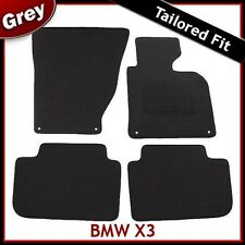 BMW X3 E83 2003-2010 4-eyelets Tailored Fitted Carpet Car Mats GREY