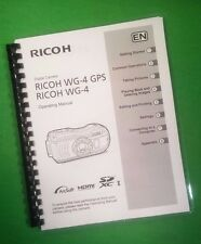 COLOR PRINTED Ricoh Pentax Camera WG-4/WG-4 GPS, User Guide 236 Pages