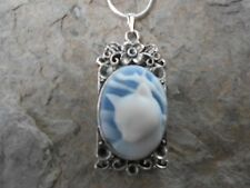 KITTY CAT CAMEO PENDANT NECKLACE!!!  925 PLATE CHAIN- QUALITY!!!