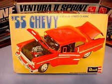REVELL 1955 CHEVY STREET CLASS 1971 ISSUE #H-1343 1/25 AMT MODEL KIT BOX ONLY