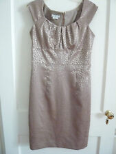 London Times Tan Dress size 8 Special Occasion, Mom of Bride NEW