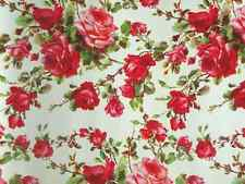 Vintage Red Flower Print Cake Topper Edible Wafer Paper FULL A4 SHEET