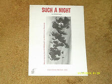 Elvis Presley sheet music Such a Night 1964 4 pages (VG+ shape)