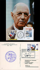 """A380-198C1 Card FRANCE """"45 years General DE GAULLE in Canada / Airbus A380"""" 2012"""