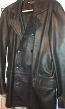 Kenneth Cole, Peacoat, Black, Leather, XL
