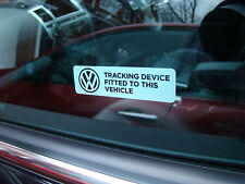 VW WINDOW GPS ALARM STICKERS GOLF GTI TDI R LINE EOS JETTA PASSAT SPORT GT