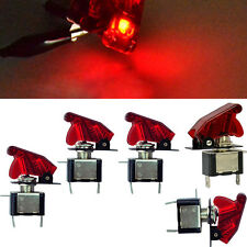 5 X 12V 20A Red Cover LED Light Rocker Toggle Switch SPST ON/OFF Car Truck