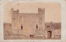 LLANSTEPHAN CARMENTHENSHIRE WALES UK~CASTLE~HORSES~REAL PHOTO POSTCARD 1911