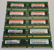 * Lot of 10 * 256MB DDR2 400mhz 1Rx16 pc2-3200 Laptop Memory SODIMM Hynix Micron