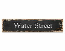 SP0513 WATER STREET Street Sign Home Room Cafe Store Shop Bar Chic Decor Gift