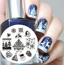 BORN PRETTY 01 Nail Stamping Image Plate Nail Art Stamp Template Christmas Theme