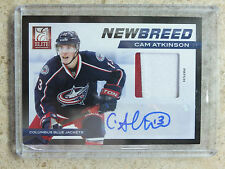 11-12 Panini Elite New Breed Rookie RC #41 Patch Auto CAM ATKINSON /5
