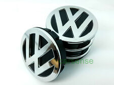 4 x VW Wheel Center Centre Hub Caps 60mm 3 D relief chrome Logo Emblem