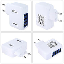 EU Plug Wall Charger 4 USB Ports Charging Adapter Travel Home European Standard