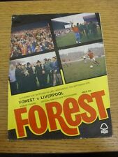13/09/1978 Nottingham Forest v Liverpool [European Cup] (folded, pin hole, sligh