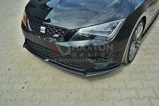 FRONT SPLITTER (GLOSS BLACK) - SEAT LEON mk3 CUPRA/FR (2012-UP)