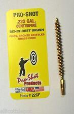 TEN (10)  .223 Caliber/5.56mm BRASS RIFLE BORE BRUSH, PRO-SHOT™, tactical sport