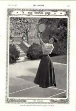 1906 Miss Zena Dare At Cricket Miss Blanche Stocker Tennis
