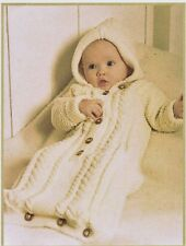 BABY KNITTING PATTERN FOR A SLEEPING BAG. IN 4 SIZES.