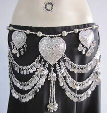 Womens Coin Charm BELT Tribal Fusion Boho Bellydance Costume Skirt Pants Fashion