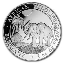 2017 Somalian Elephant 1 oz .9999 Silver BU Bullion Coin With Rooster Privy