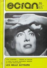 Revue ECRAN 78  n°65  - Joan Crawford - Les milles acteurs - Présence des fiches