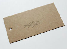 100 pcs of Blank Design Brown Kraft Paper Card Hang Tag 40mm X 80mm