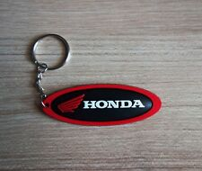 New HONDA Keychain Keyring Black Red Rubber Motorcycle Bike Car Collectible Gift