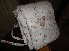 IKEA ALVINE BUKETT CRANBERRY RED WHITE TIE-TOP (1) FULL DUVET FLORAL