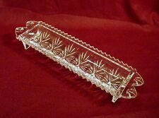 """Fifth Avenue Crystal LTD 12"""" Cracker Round Cookie Portico Dish Clear"""