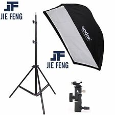 190cm Photograph​y Light Stand +60*90cm Umbrella Softbox+Hot Shoe Bracket kit