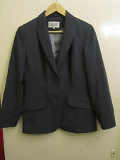 Hip Length Grey Pinstripe Suit Jacket only by Next in Size 12 Petite