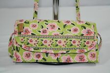 MaggiB Rose Blossom Wallet On A String Quilted Removeable Strap