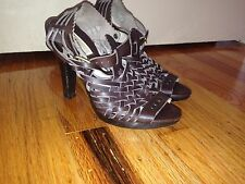 MICHAEL KORS ITALY LADIES BROWN HIGH HEELS SHOES SANDALS SIZE 6M.