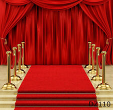 Red carpet Thin Vinyl Photography Backdrop Background Studio Props 6x9ft DZ110