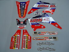 Honda CR125 CR250 2002-2007 Troy Lee Designs Lucas Oil Team graphics + plastics
