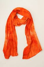 BRAND NEW HANDMADE EXTRA LONG ORANGE TIE DYE SCARF SARONG COVER FREE POST/SCL004